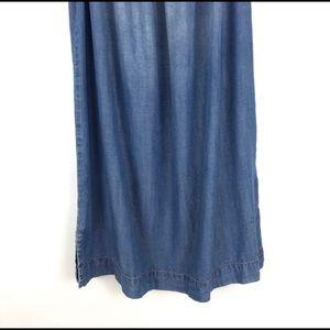 Anthropologie Dresses - Anthropologie  Cloth & Stone Chambray denim dress